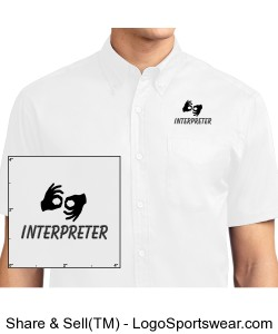 Dress Shirt, short sleeve - Mens - Black Logo Design Zoom