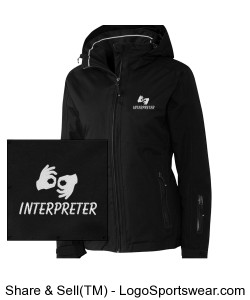 Insulated Jacket - Ladies - White Logo Design Zoom