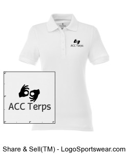 Ladies ACCTerps Polo Design Zoom