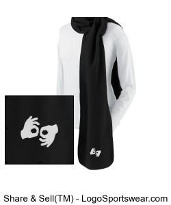 Scarf - Extra Long - White Logo Design Zoom
