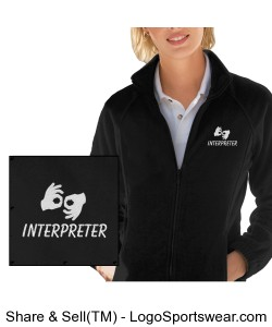 Fleece Jacket - Ladies - White Logo Design Zoom