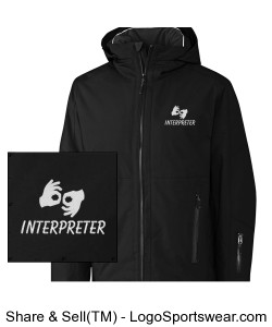 Insulated Jacket - Mens - White Logo Design Zoom