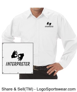 Dress Shirt - Mens - Black Logo Design Zoom